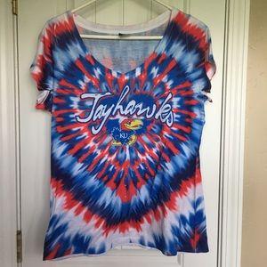 Creative Apparel Kansas Jayhawks Tie Dye Shirt XL